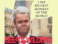 Wilders illustrated as an ape